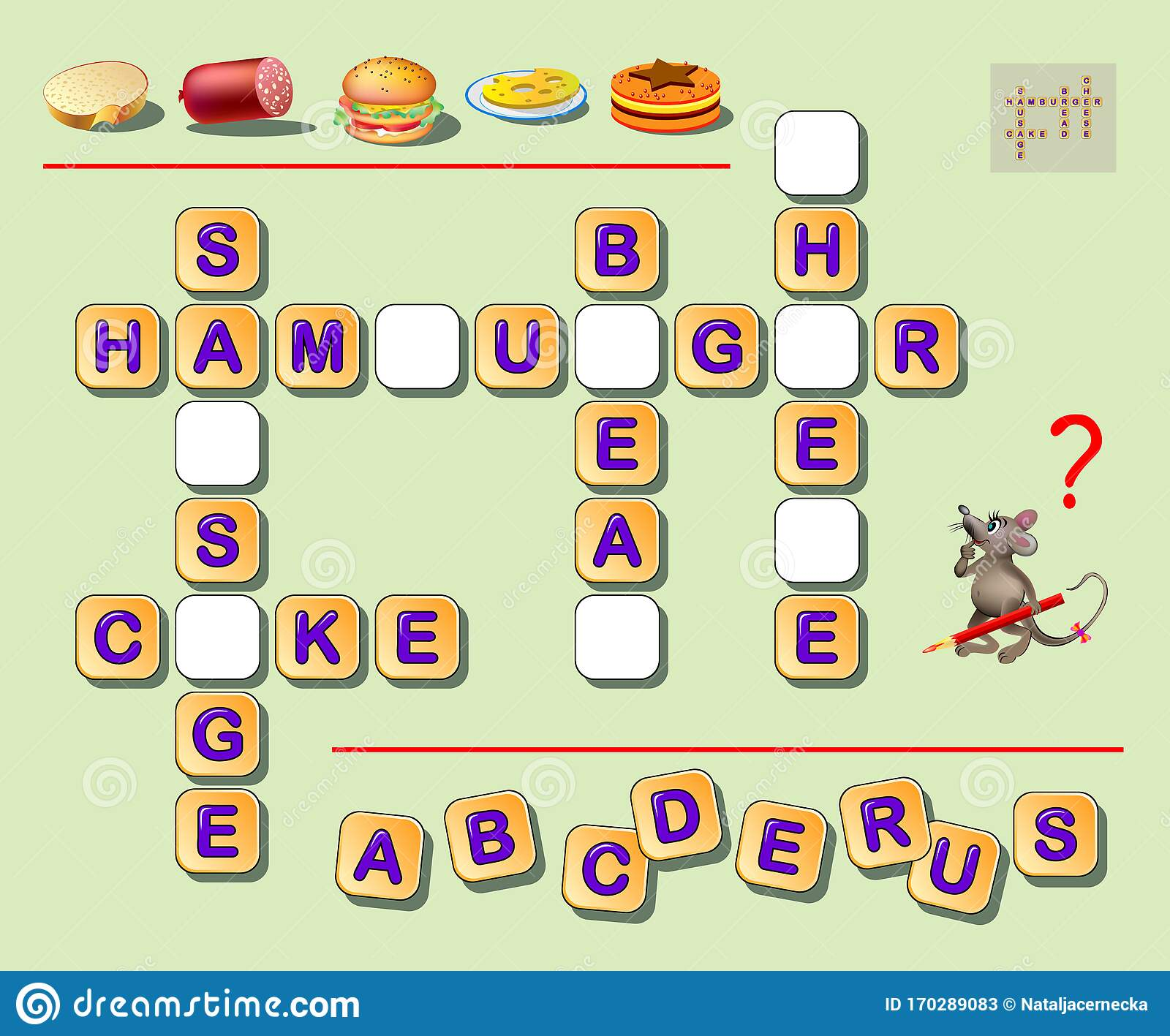 Logic Crossword Puzzle Game For Kids To Study English