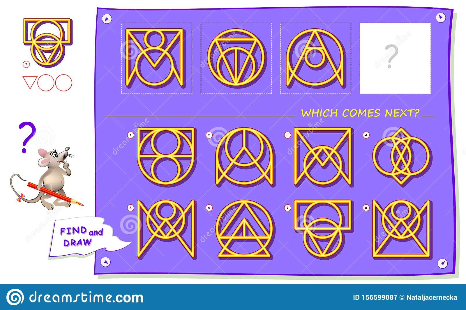 Logic Puzzle Game For Children And Adults What Sign
