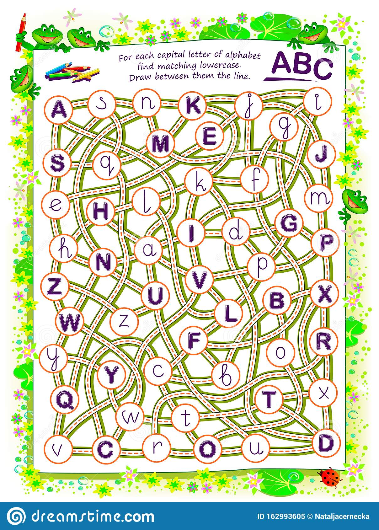 Logic Puzzle Game For Kids For Each Capital Letter Of