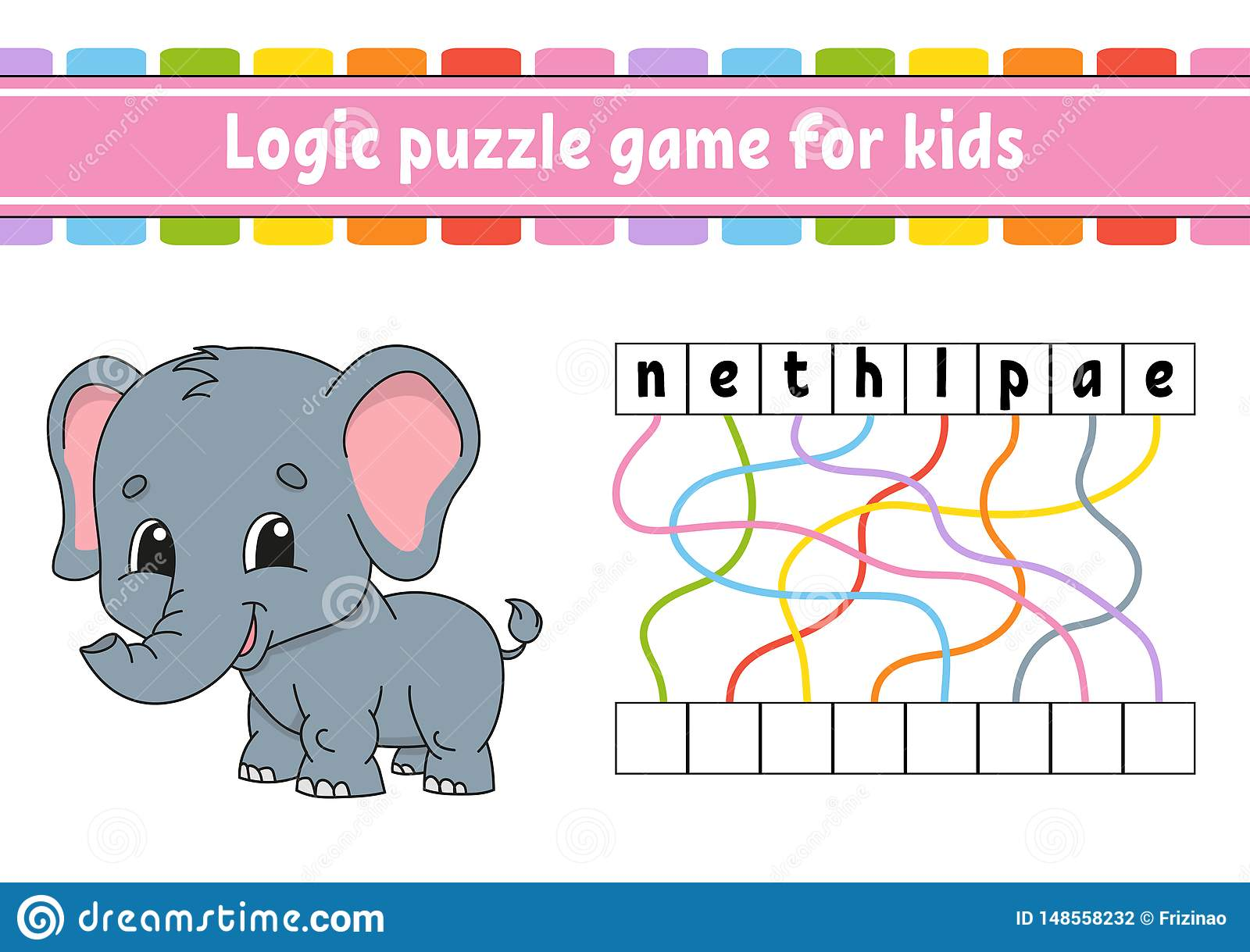 Logic Puzzle Game Learning Words For Kids Find The