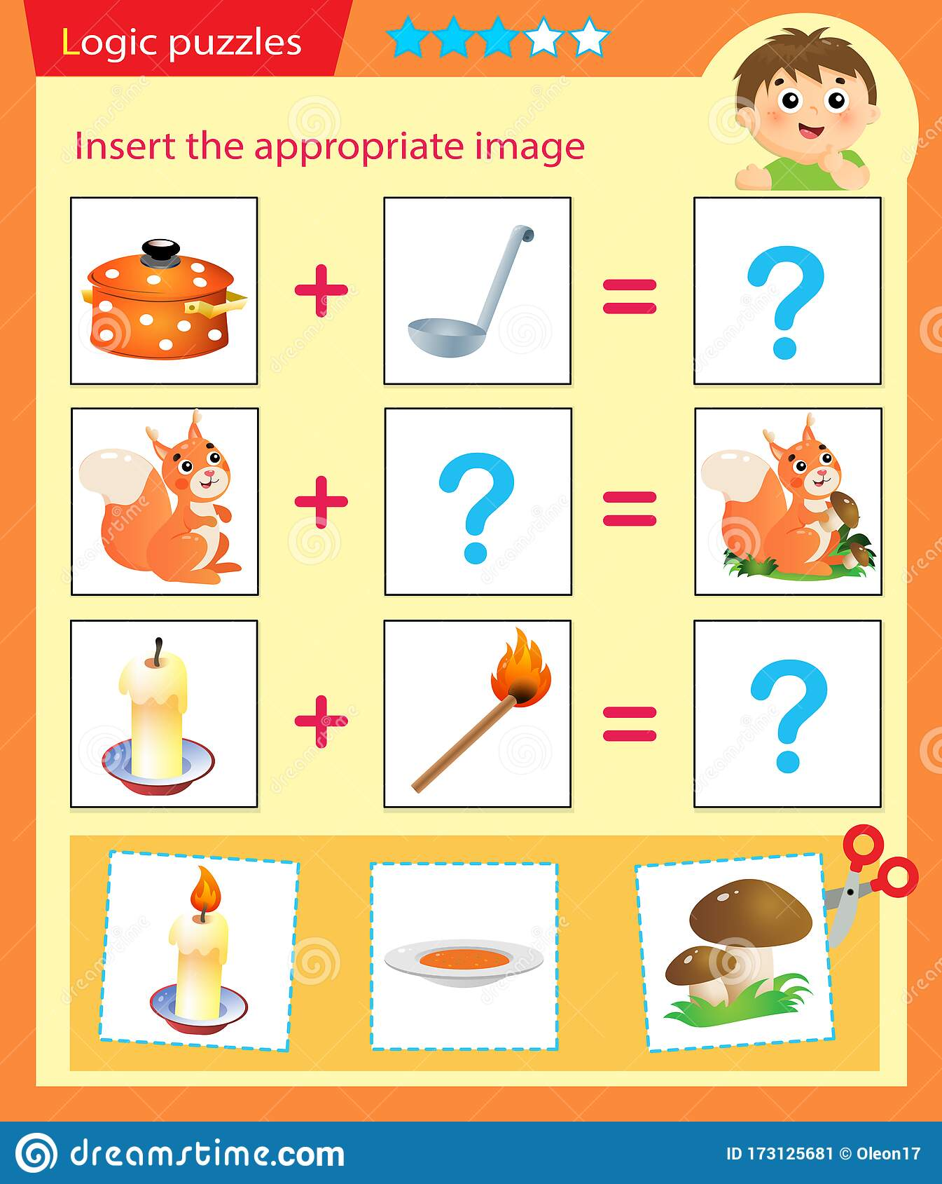 Logic Puzzle For Kids Matching Game Education Game For