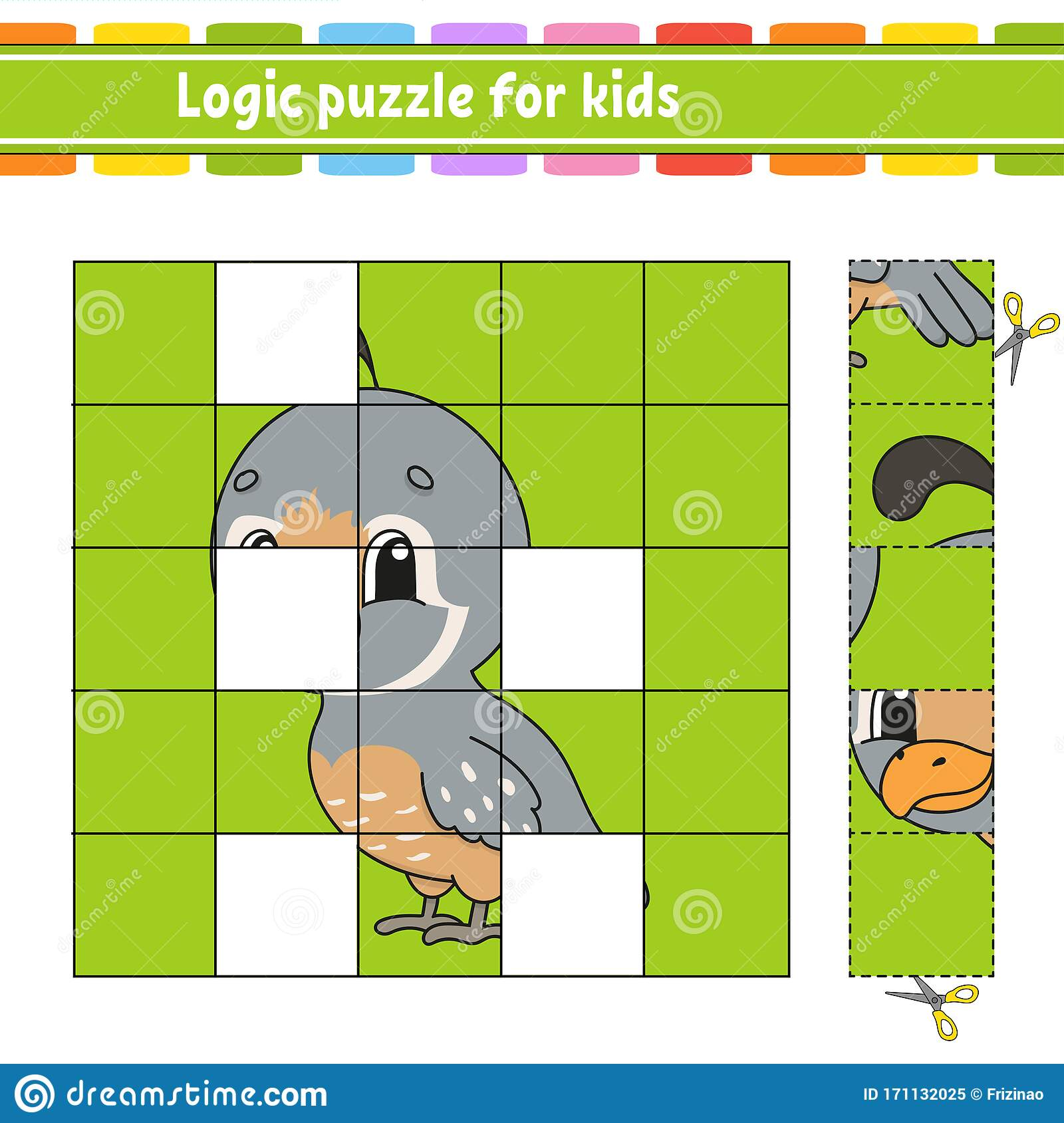 Logic Puzzle For Kids Quail Bird Education Developing