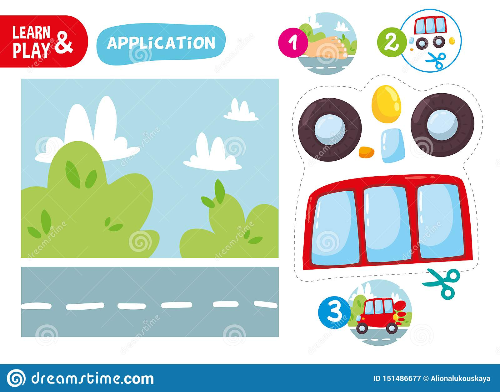 Logik Kindergestalt Auto Form Spiel Bedruckbares