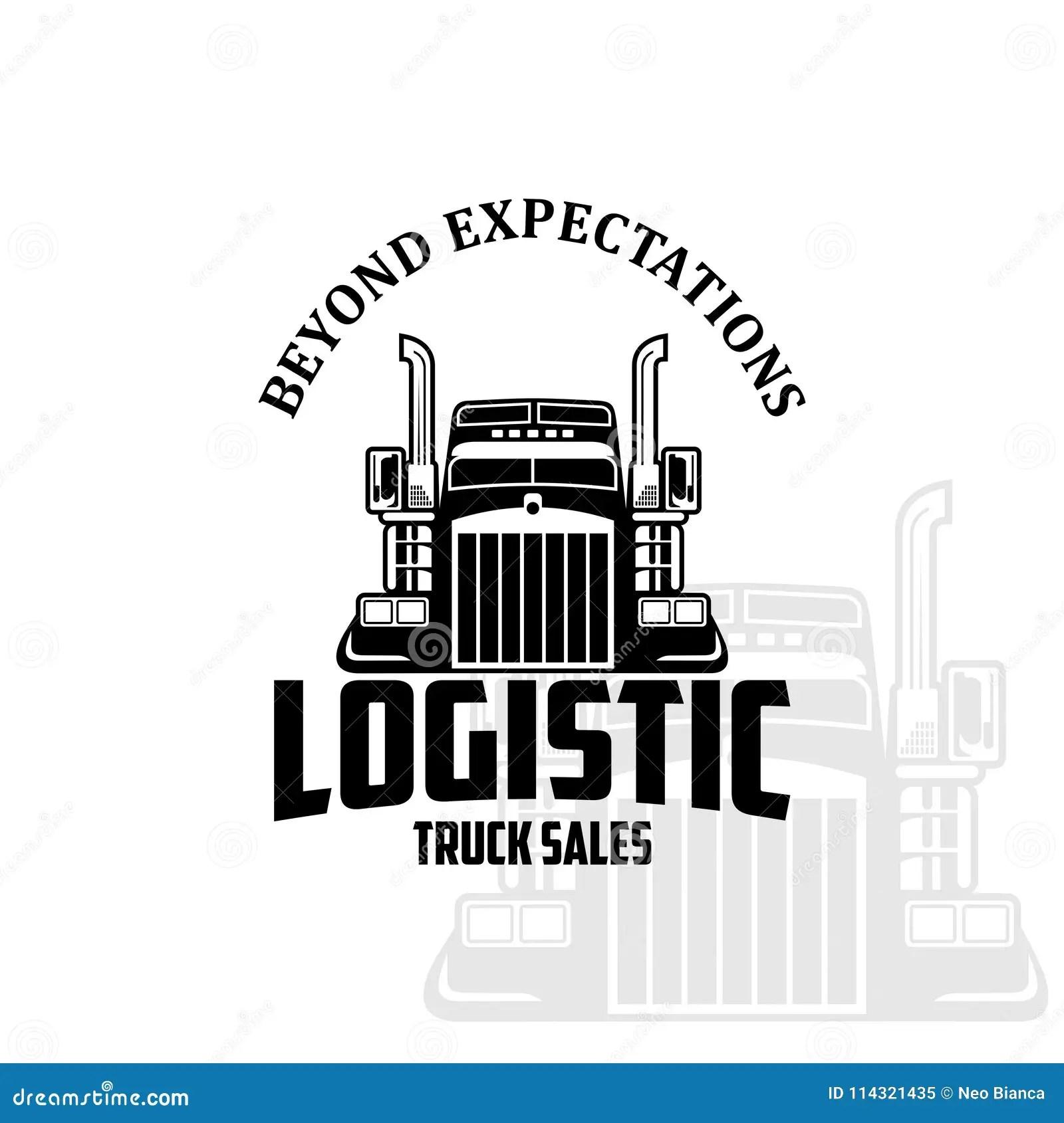 Logistic Truck Sales Logo Vector Stock Vector