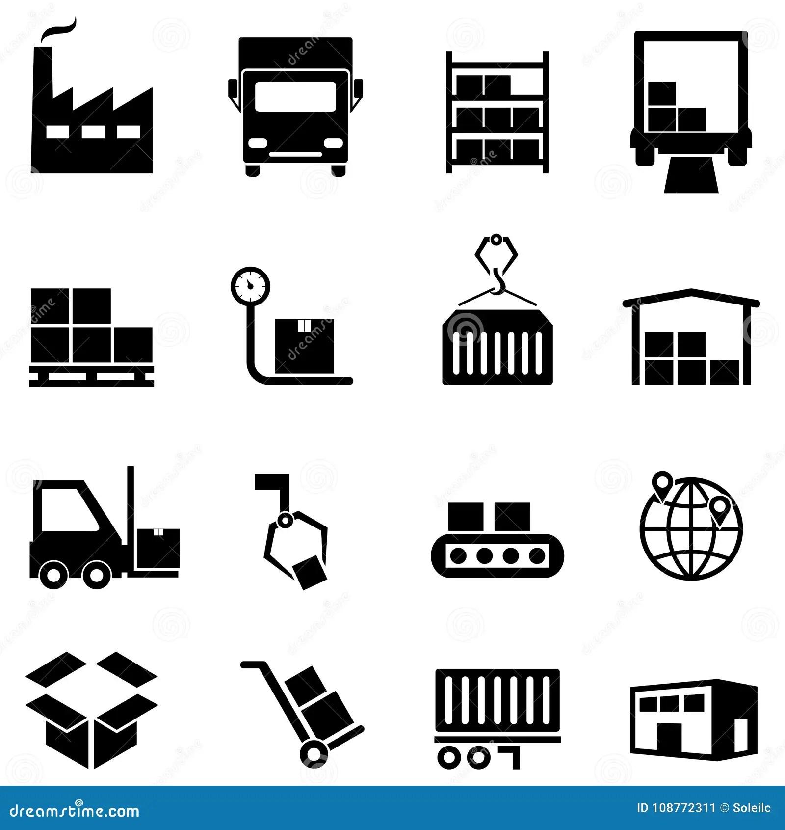 Logistique Distribution Et Icones D Entrepot Illustration