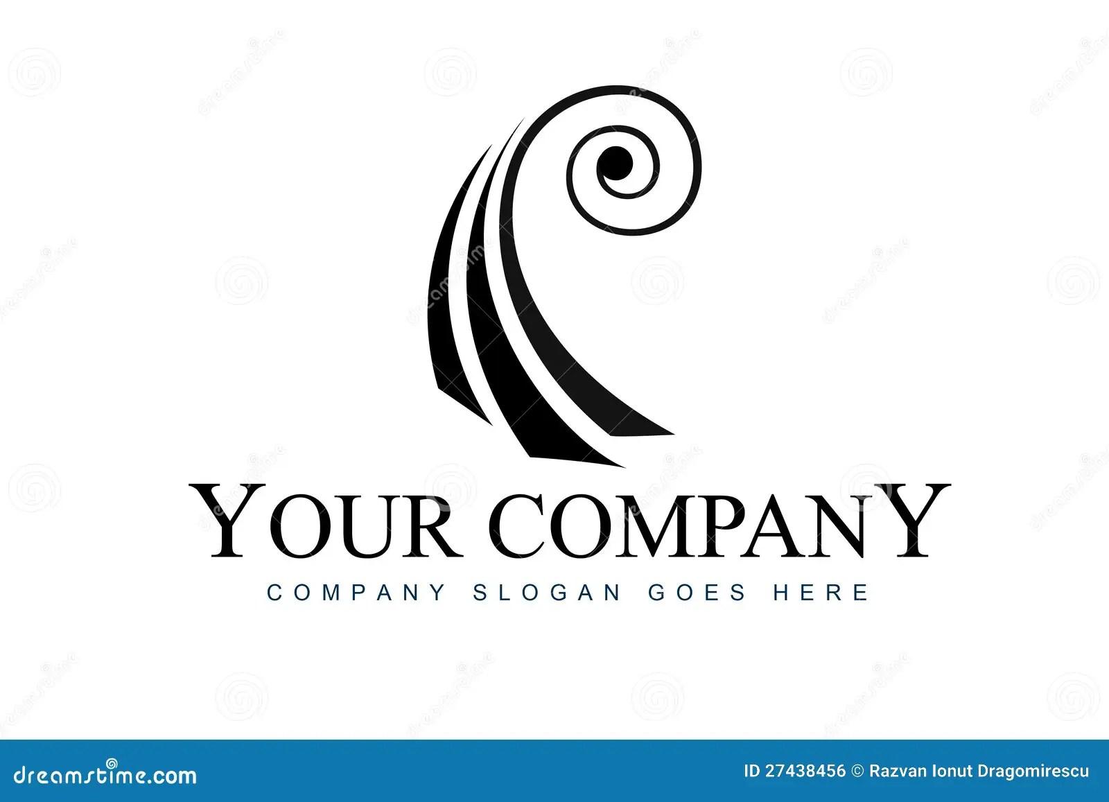 Logo Astratto Del Violino Illustrazione Di Stock