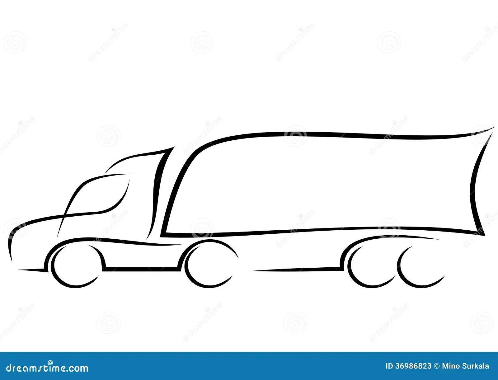 Logo D Un Camion Aerodynamique Illustration De Vecteur