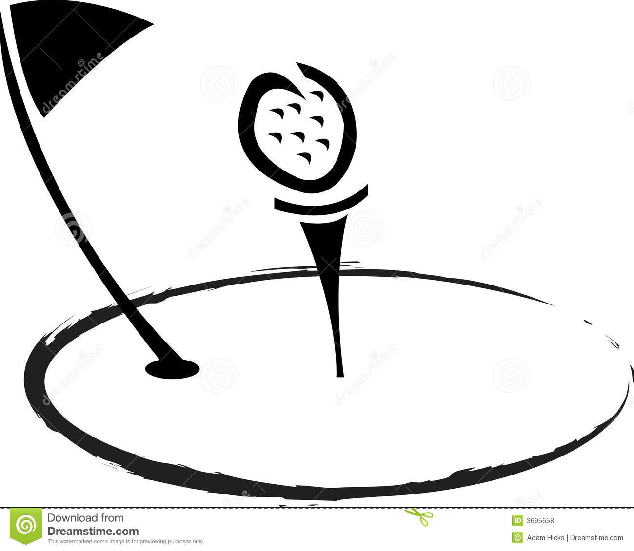 Logo De Golf Illustration De Vecteur Illustration Du