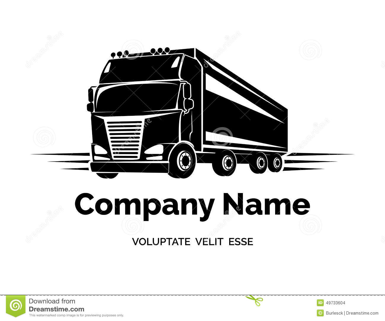 Logo Del Camion Del Carico Di Vettore Illustrazione