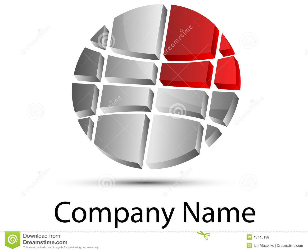 Logo Global Royalty Free Stock Photos Image 13410188