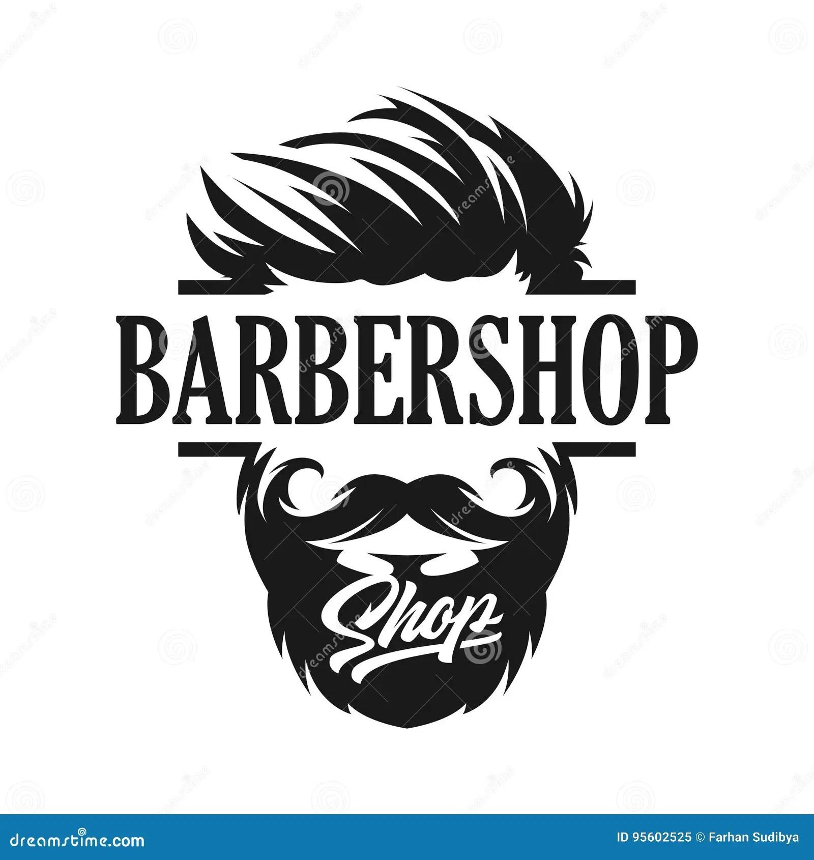 Logo Template Barber Shop Stock Vector Illustration Of