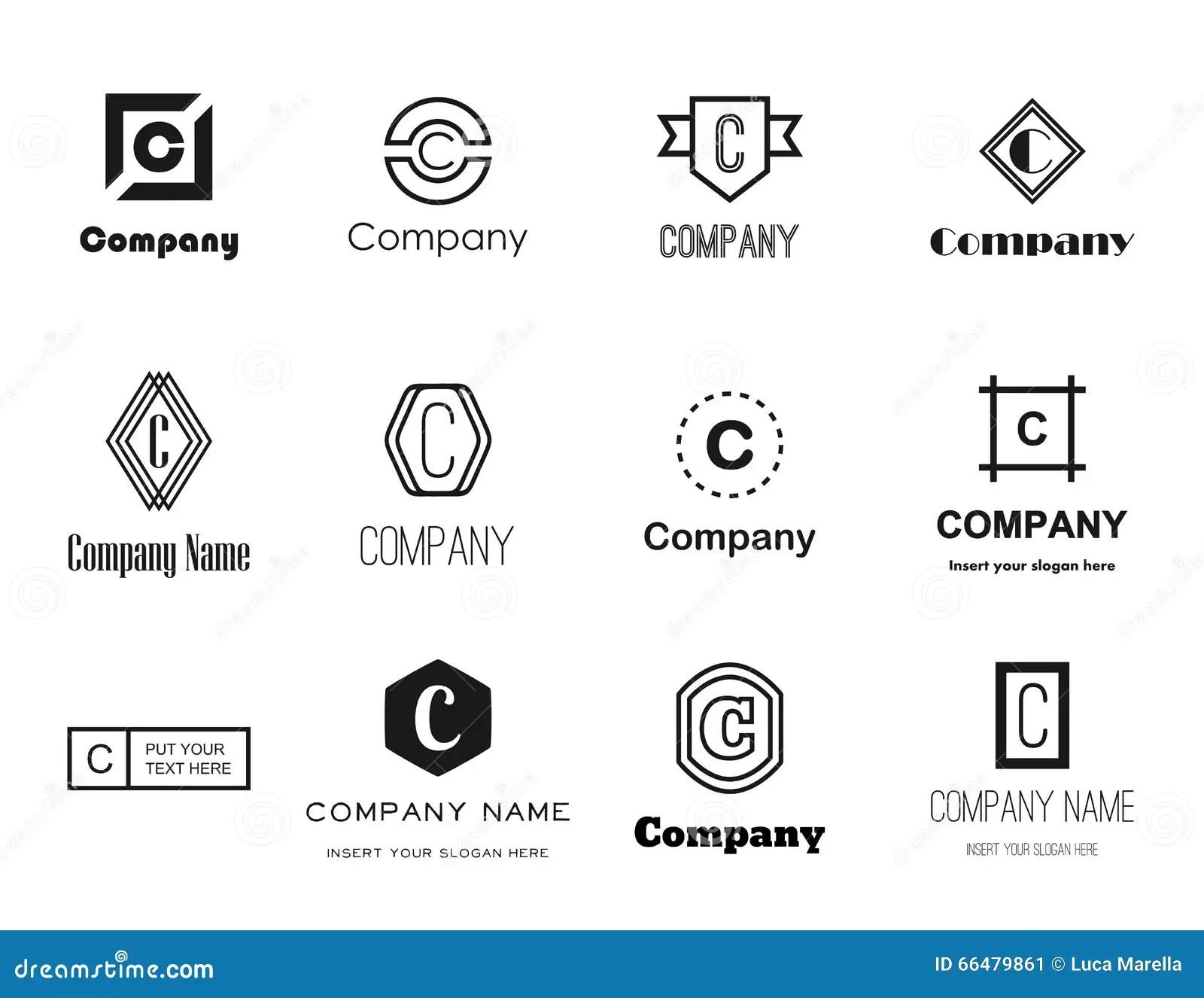 Logos De La Lettre C De Vecteur Regles Illustration De
