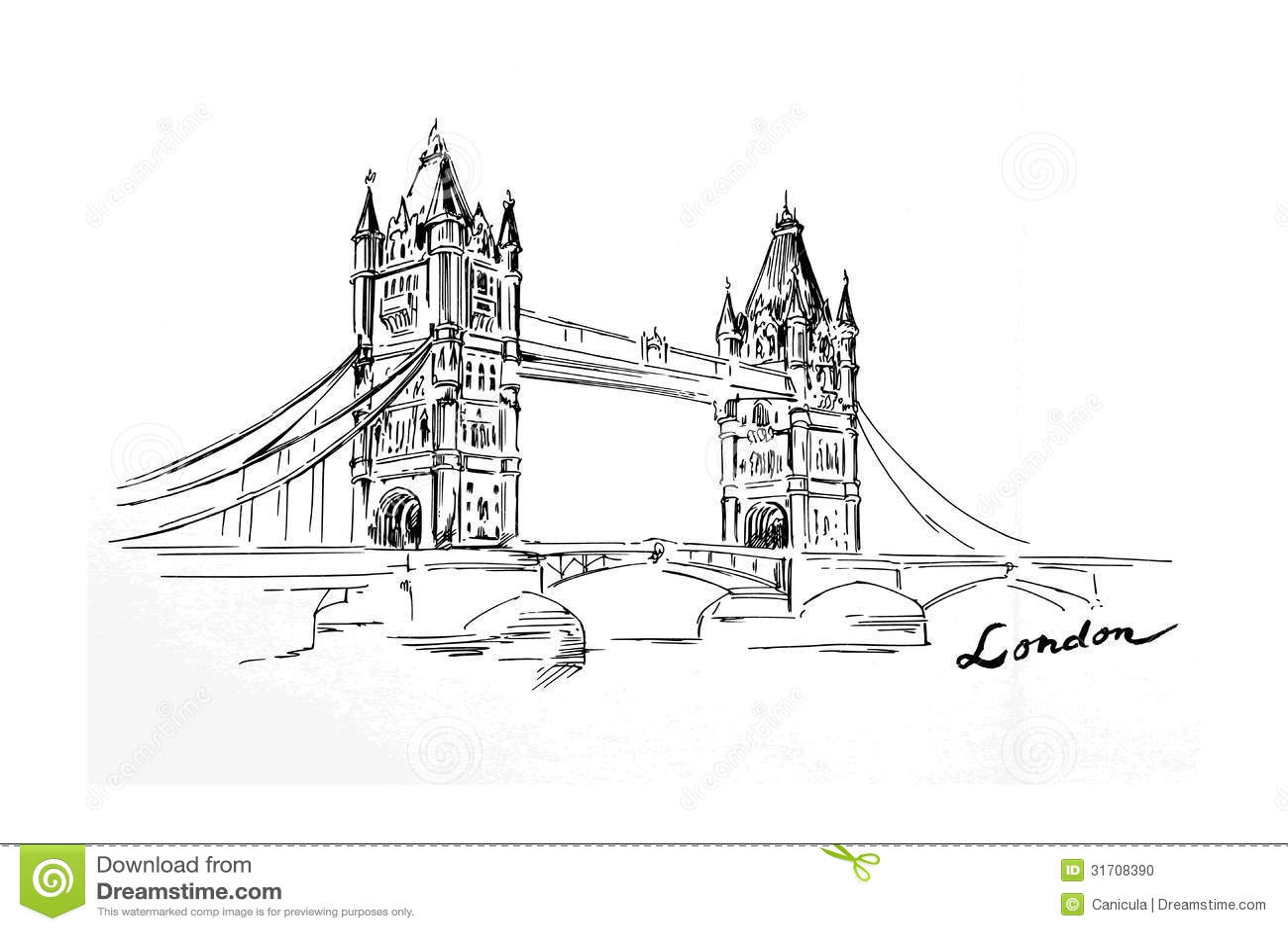London Bridge Stock Vector Illustration Of Architecture