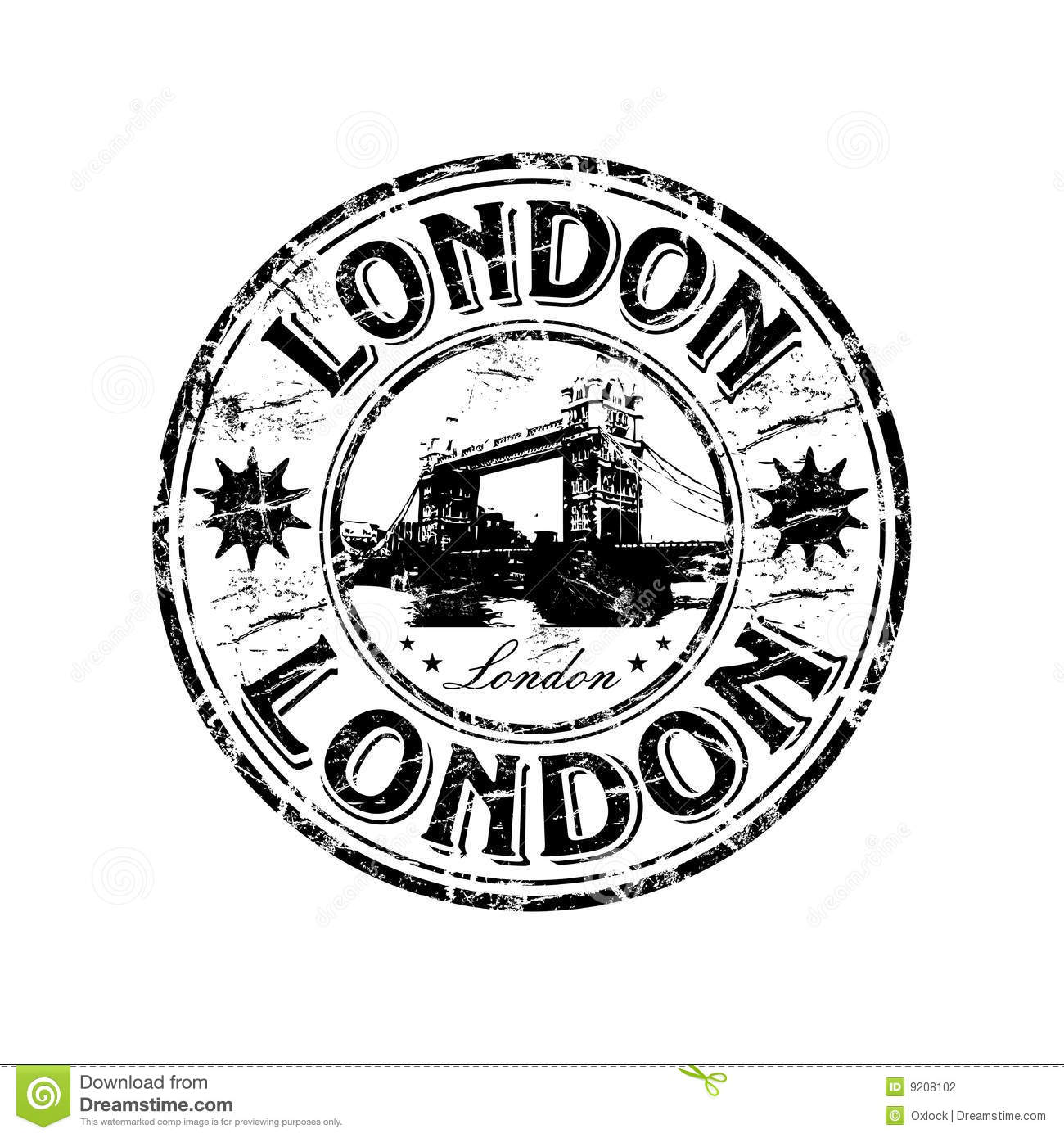 London Grunge Rubber Stamp Stock Vector Illustration Of