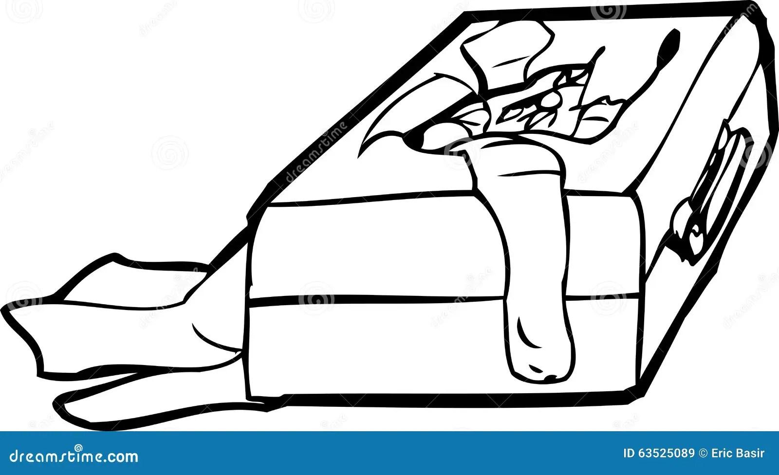 Lost Luggage Outline Stock Illustration Illustration Of