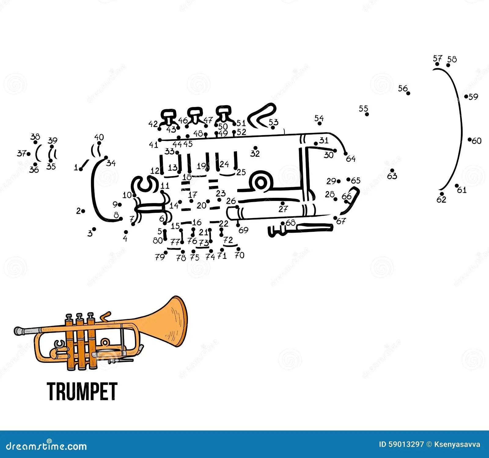 Loteria Liczbowa Instrumenty Muzyczni Tr Bka Ilustracja