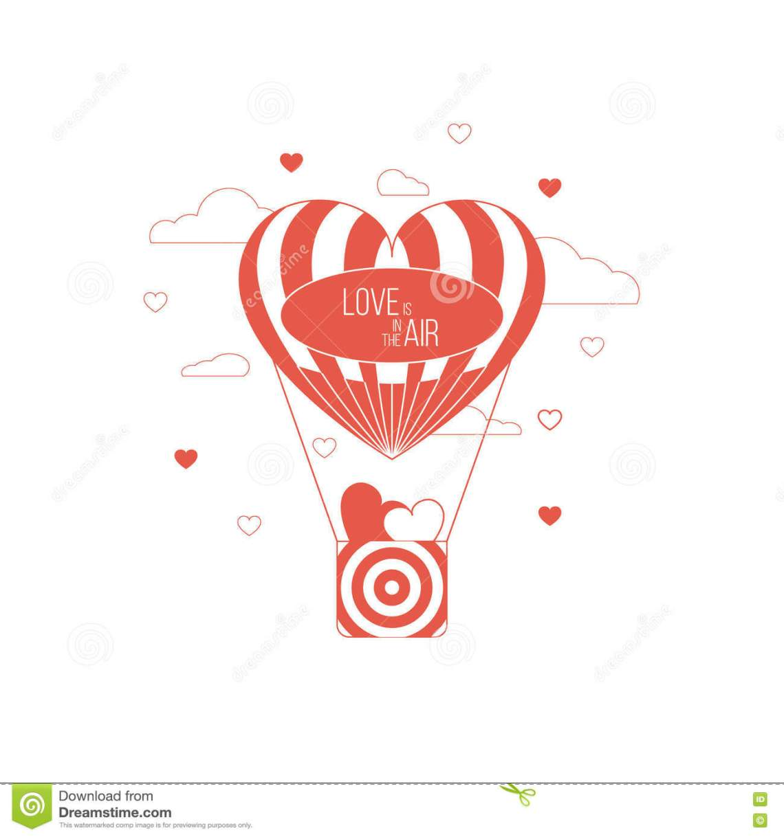Download Love Is In The Air Concept. Heart Shaped Balloon. Red ...