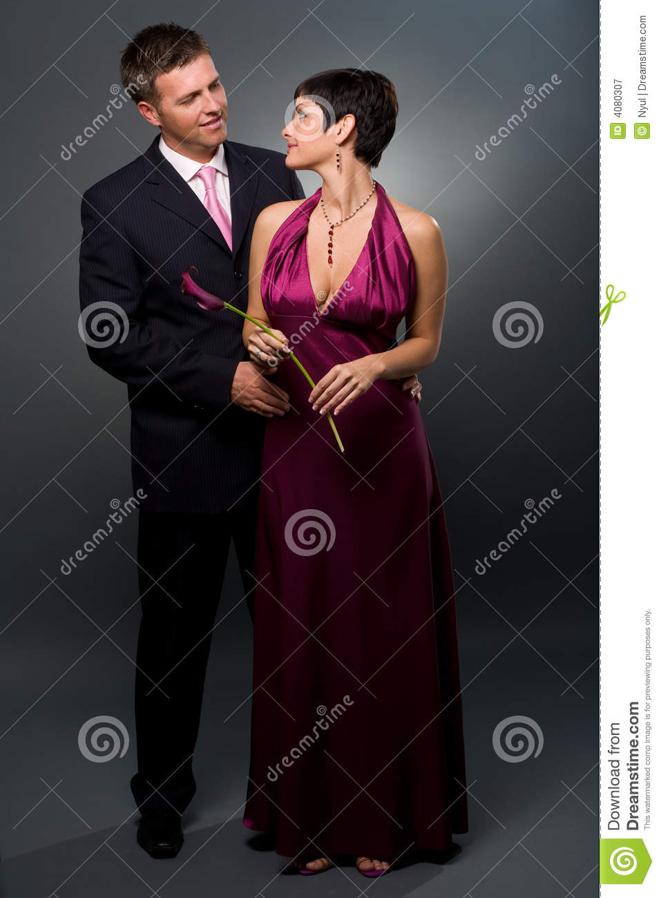 Love Couple In Evening Dress Stock Image Image 4080307