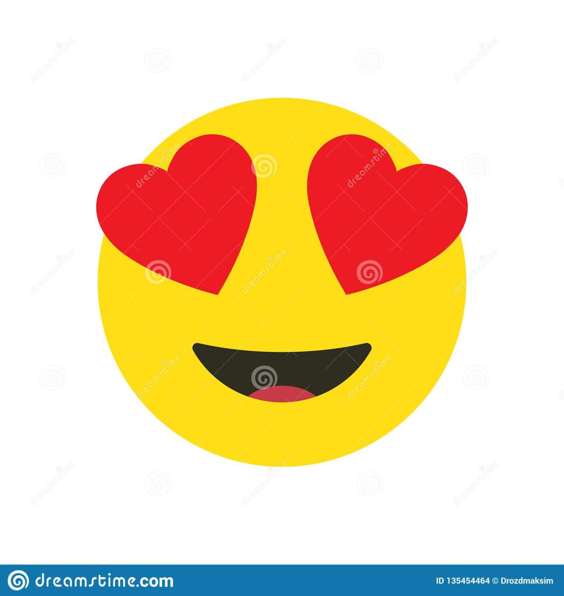 Download Love Emoji Icon Design Vector Stock Illustration ...