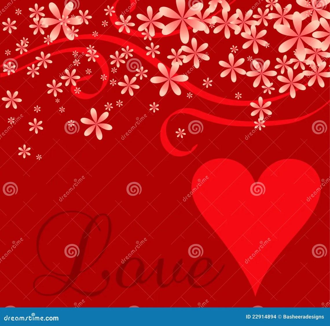 Download Love Heart Cursive Background Stock Vector - Illustration ...
