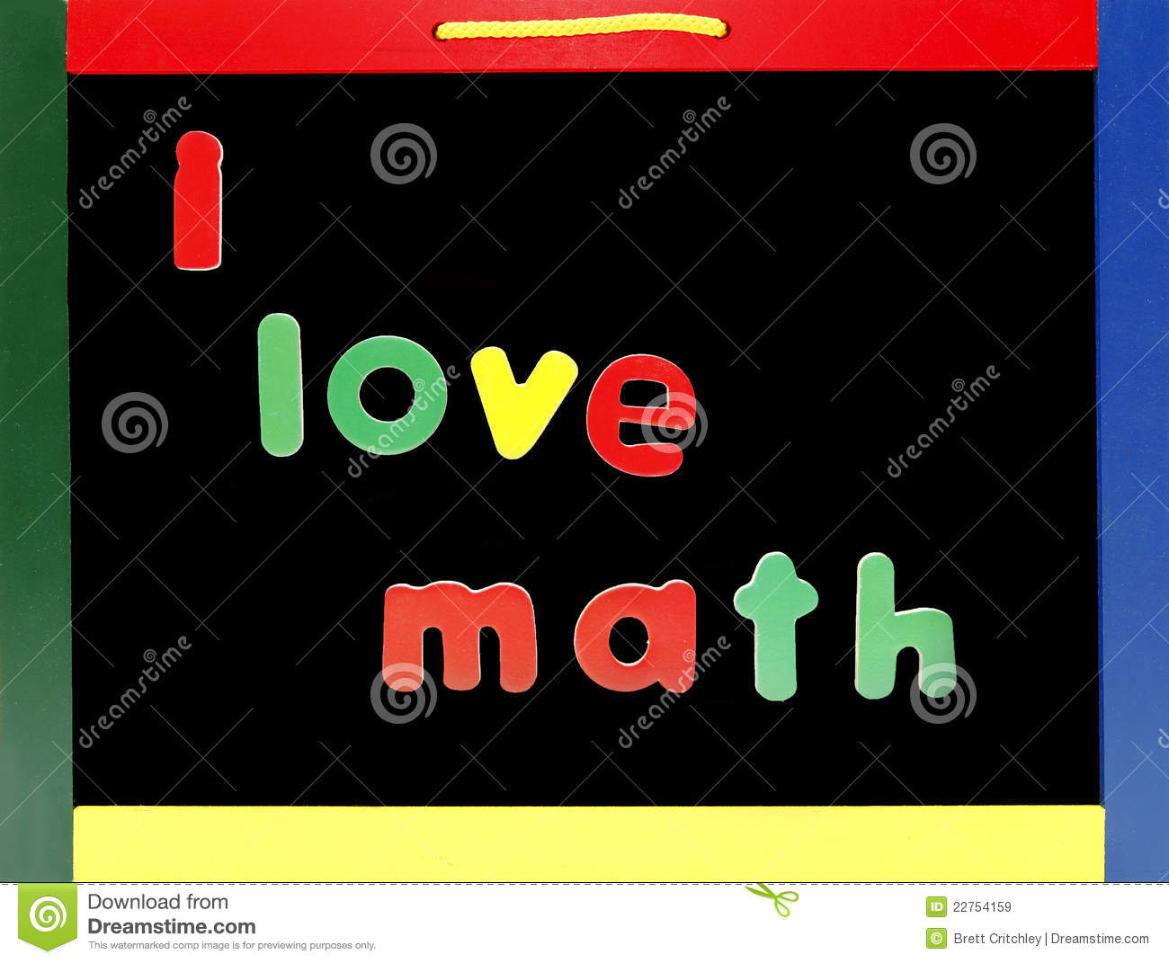 Love Math Chalkboard Stock Image Image Of Mathematics