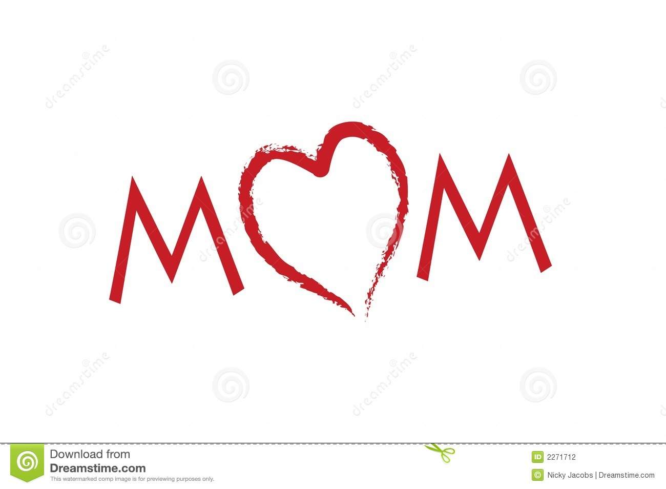 Love Mom Mother S Day Stock Vector Illustration Of Kids 2271712