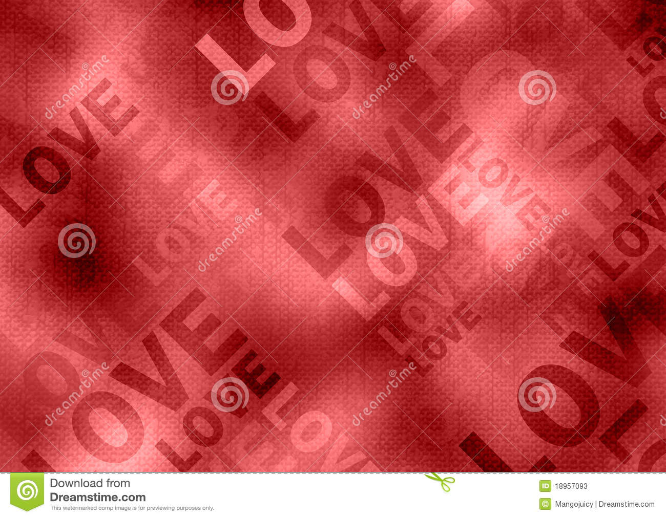 Love Poster Grunge Style Red Background Stock