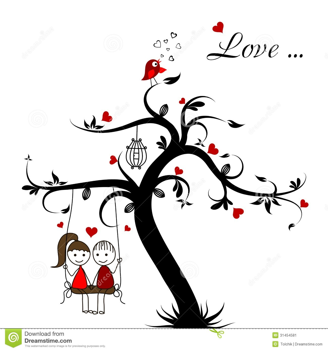 Love Story Card Vector Stock Image