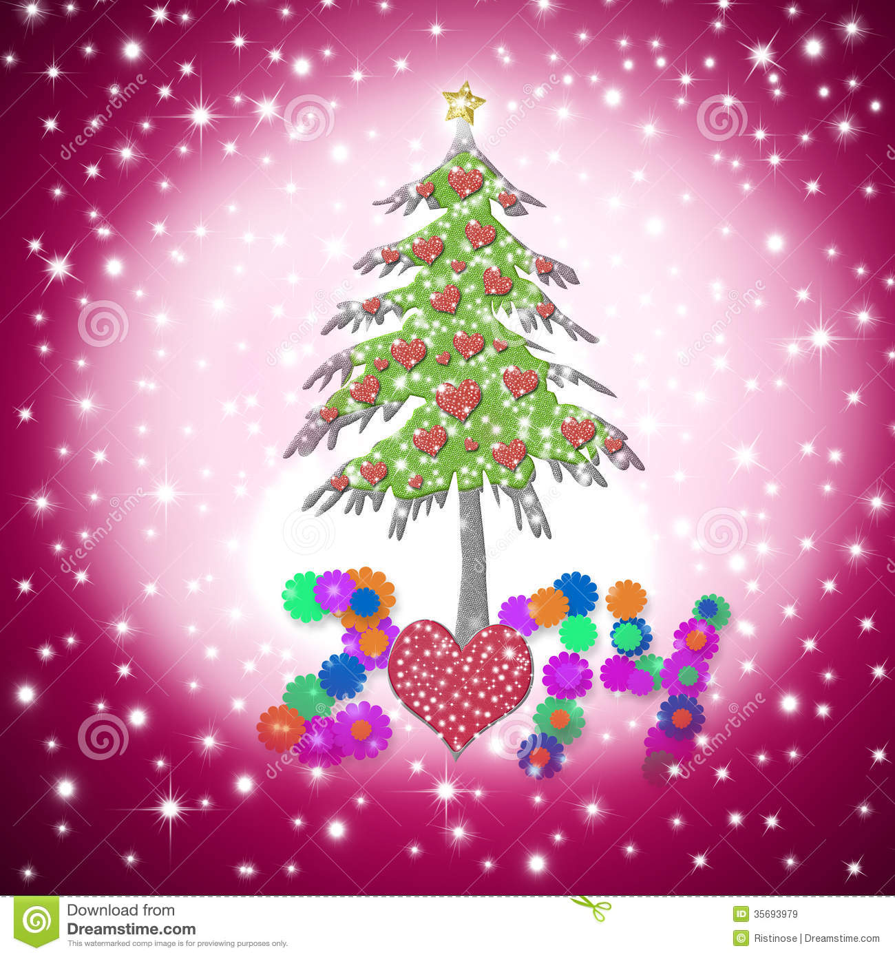 Lovely Child Christmas Greeting Card 2014 Royalty Free