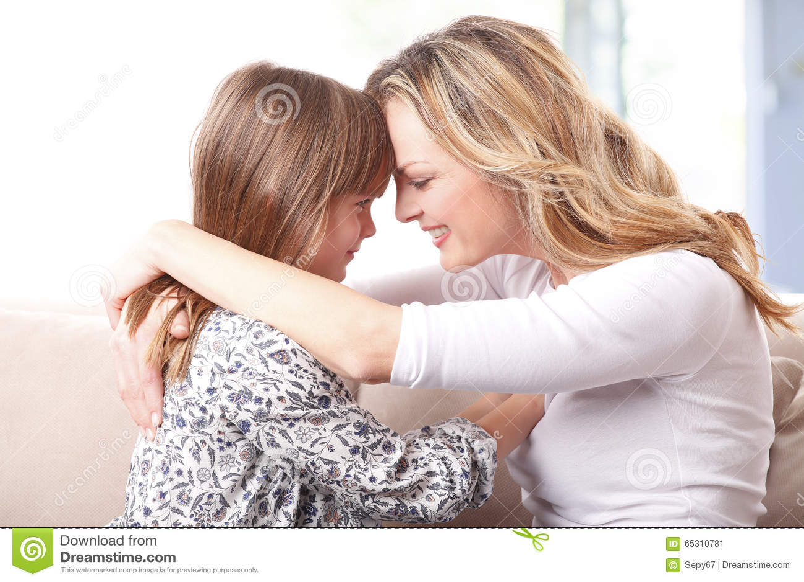 Loving Mother Daughter Relationship Stock Image
