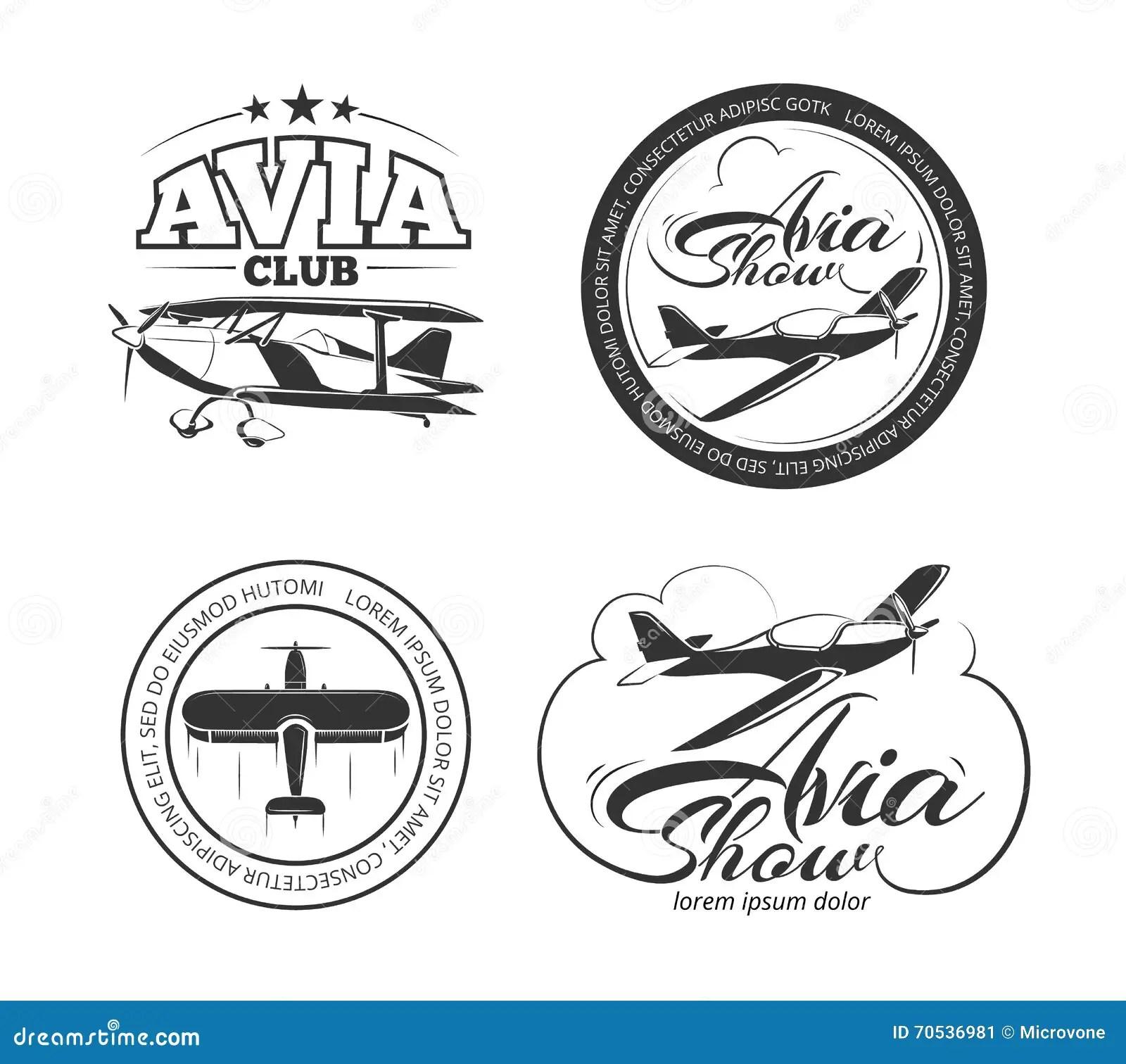 Luchtvaart Vliegtuig Vectorkentekens Emblemen Emblemen