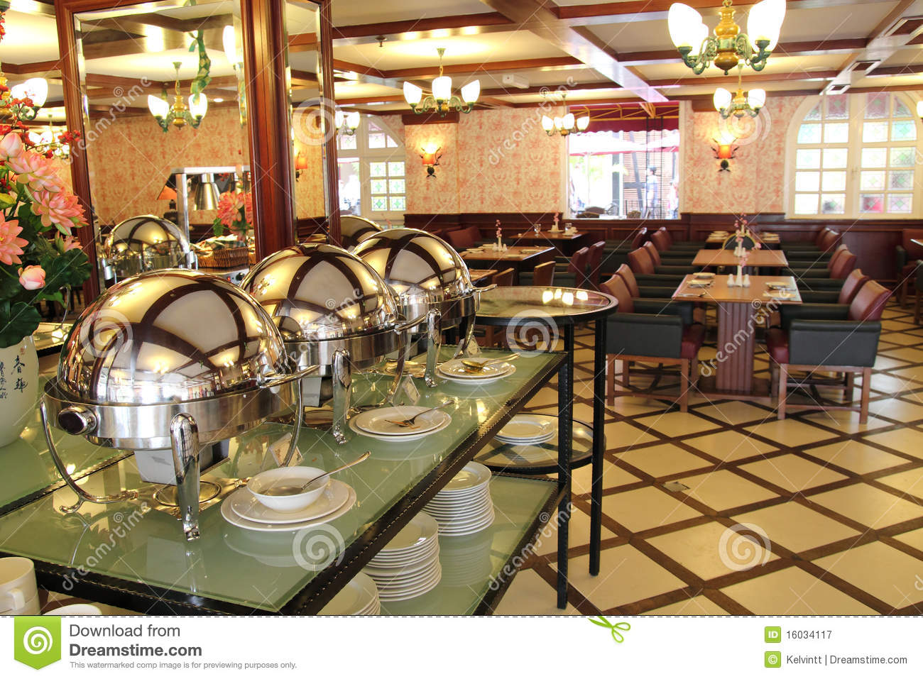 Luxury Buffet Restaurant Royalty Free Stock Photography