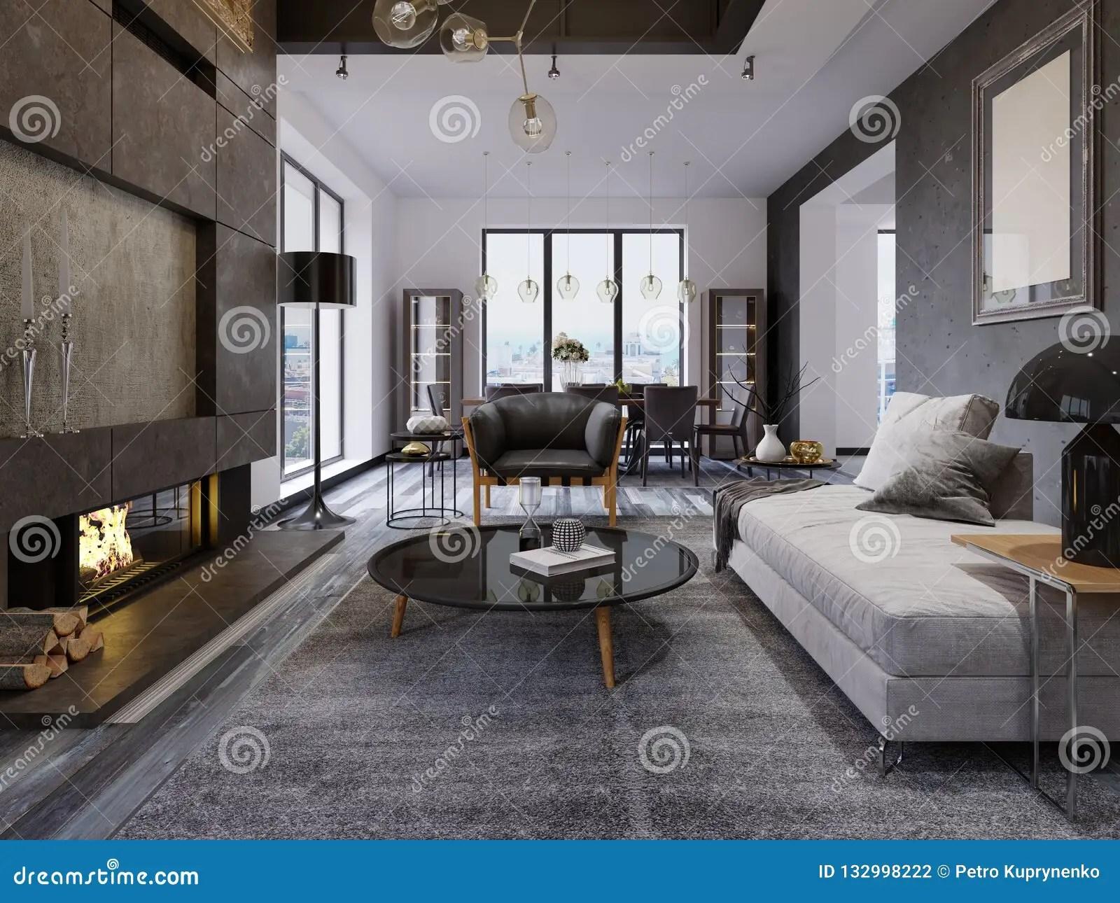 Luxury Duplex Loft Style Apartment Contemporary Furniture