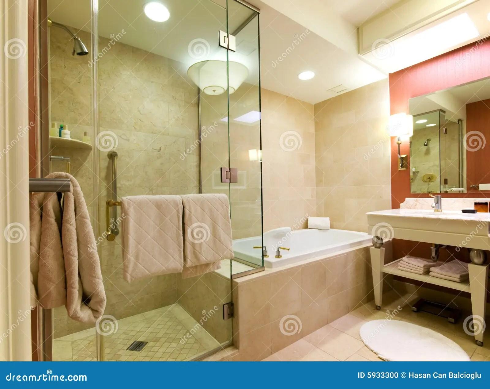 Luxury Hotel Bathroom Stock Photo Image Of Bathtub High