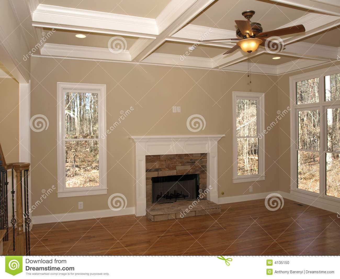 Luxury Living Room Empty Stock Photo Image Of Room Light