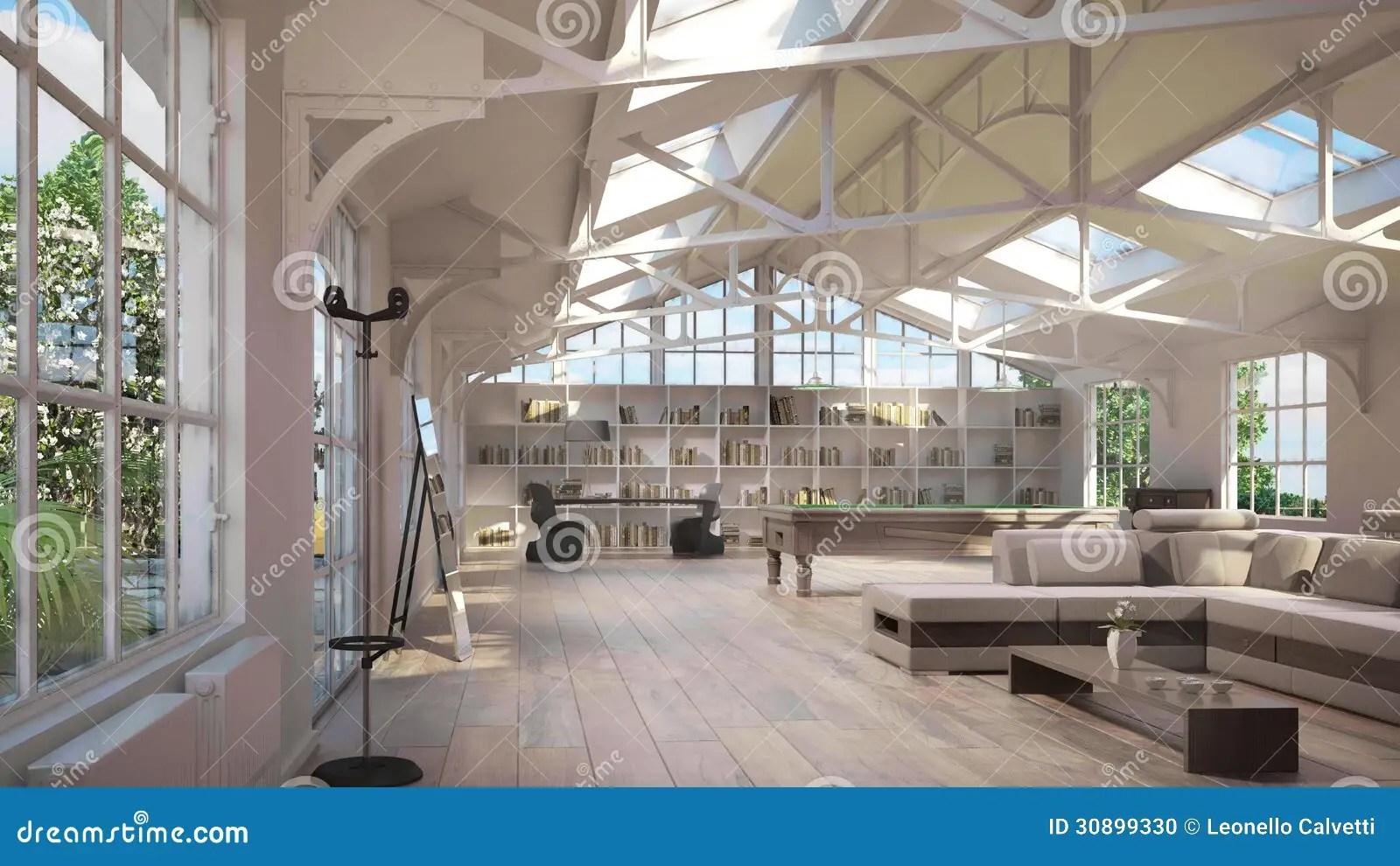 Luxury Loft Interiors Stock Photo Image 30899330