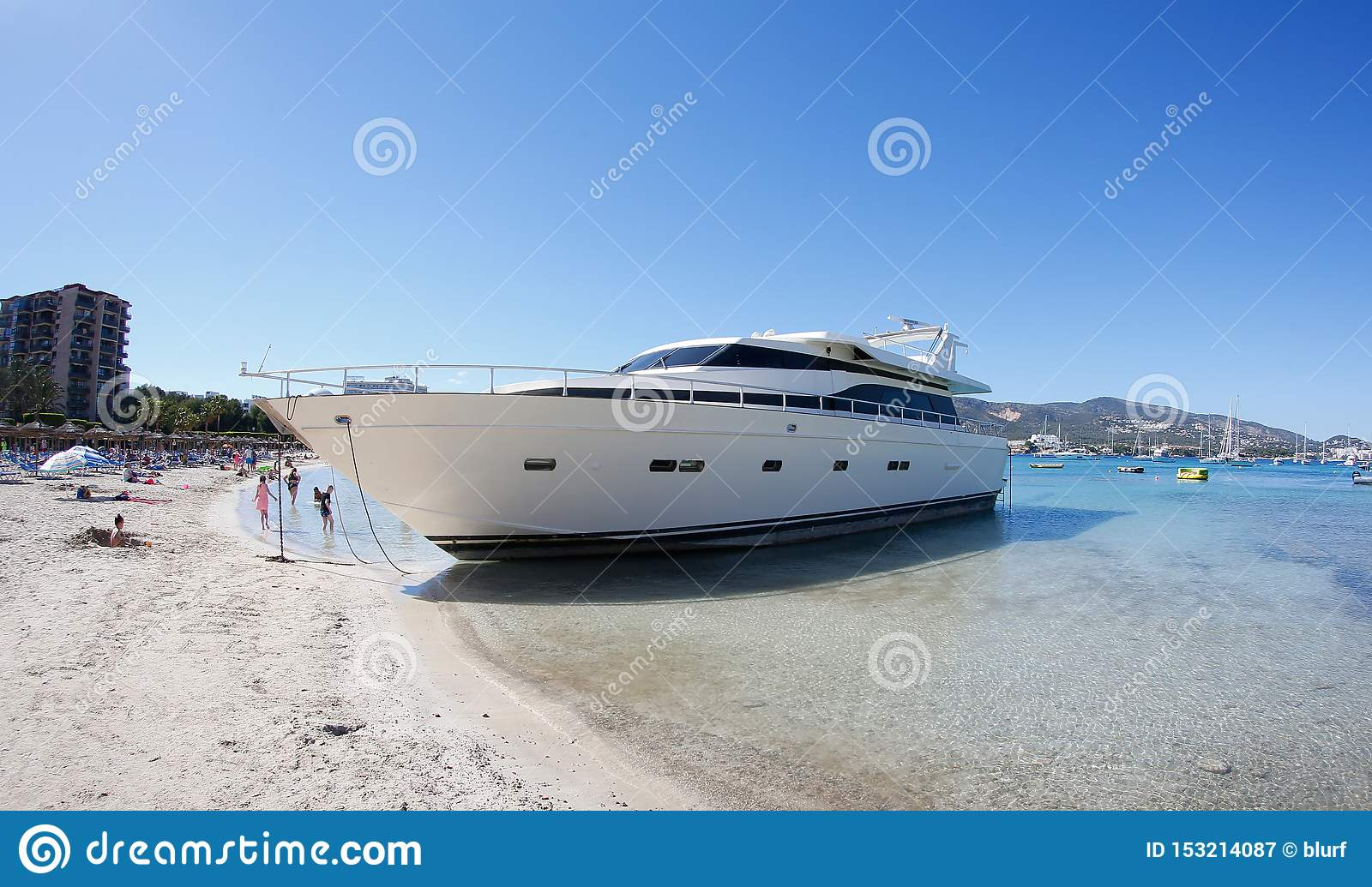 https www dreamstime com luxury yacht wrecked sand son matias beach palmanova last march strong storms caused wreckage then image153214087