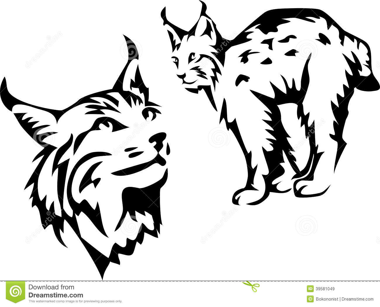 Lynx Stock Vector Illustration Of Wildcat Mammal