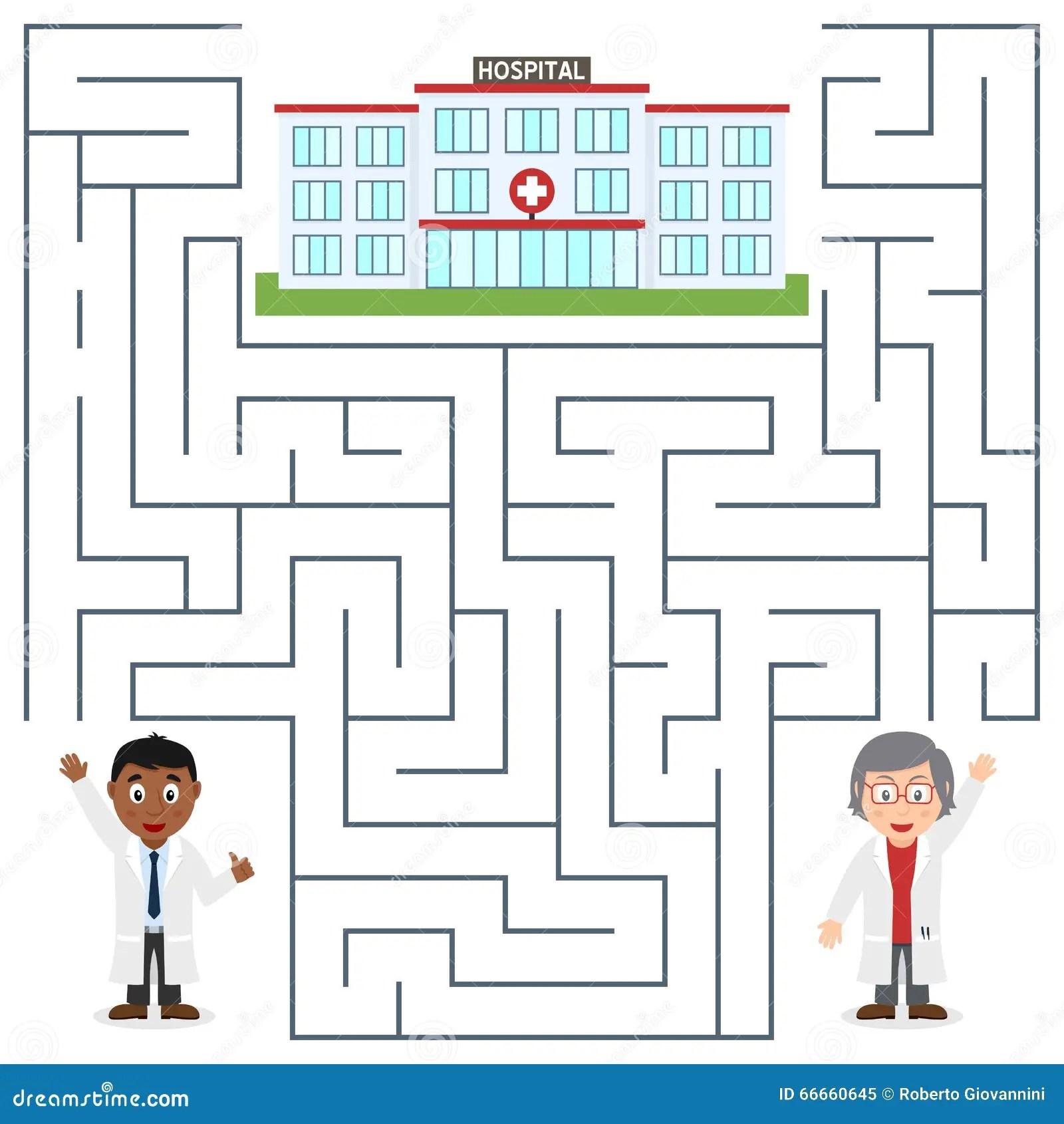 Medecins Et Labyrinthe D Hopital Pour Des Enfants