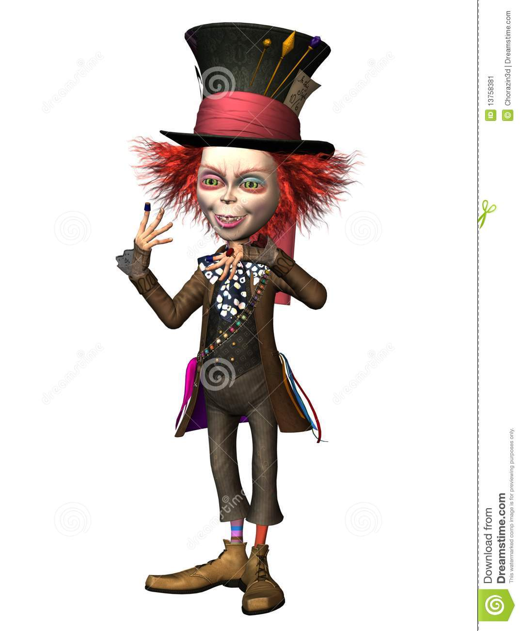 Mad Hatter 3 Stock Image Image 13758381