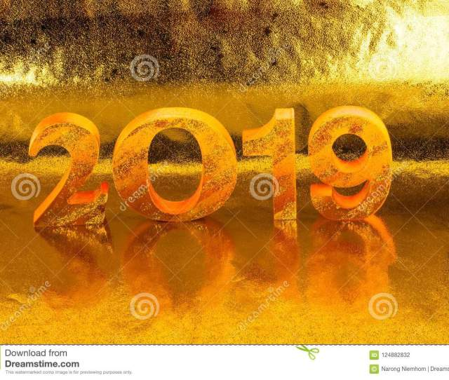 Is Made In Gold Color Place In Golden Background Is Mean The Golden Year For Lucky All Year