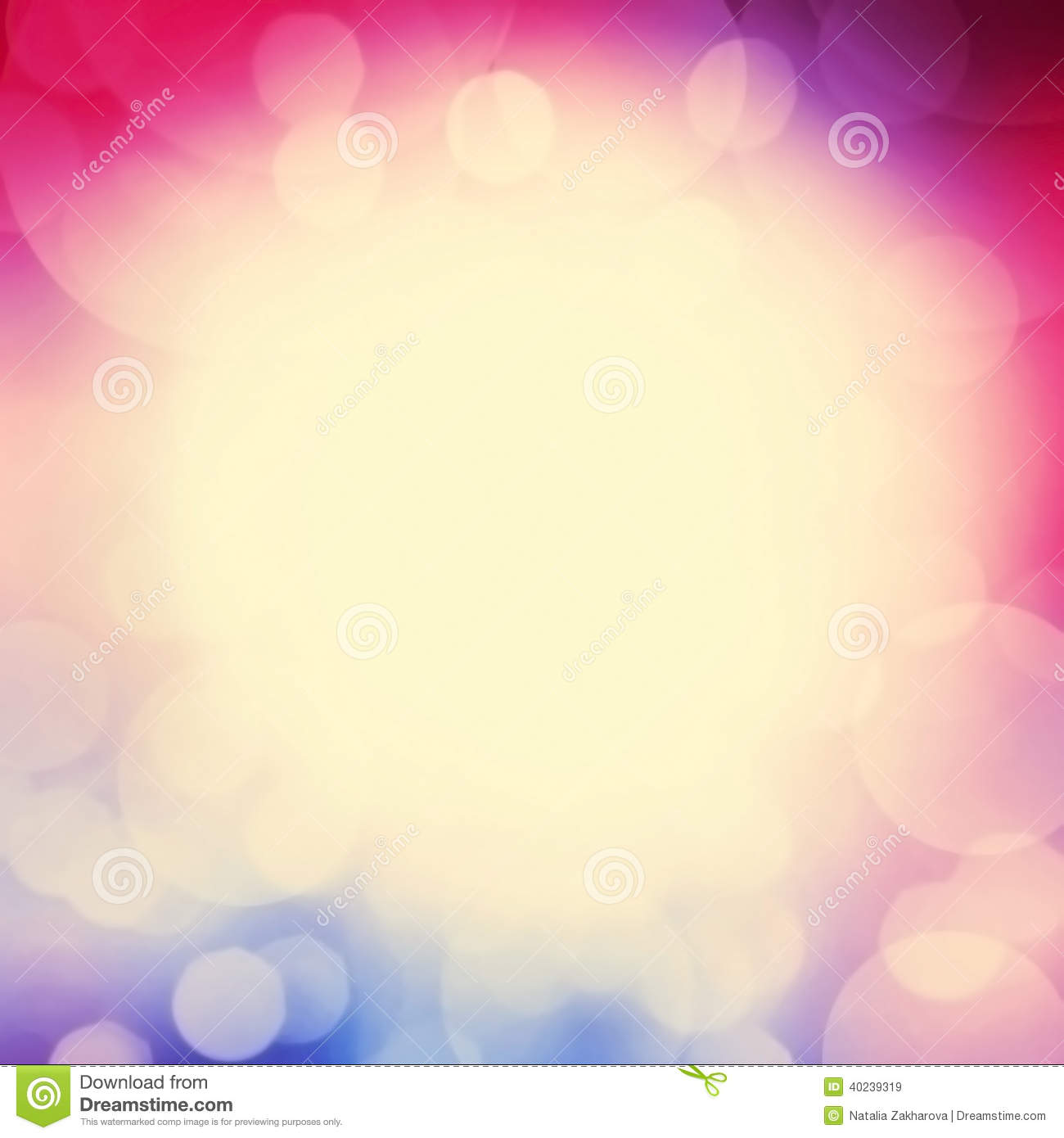 Magical Background With Colorful Bokeh Abstract Pastel