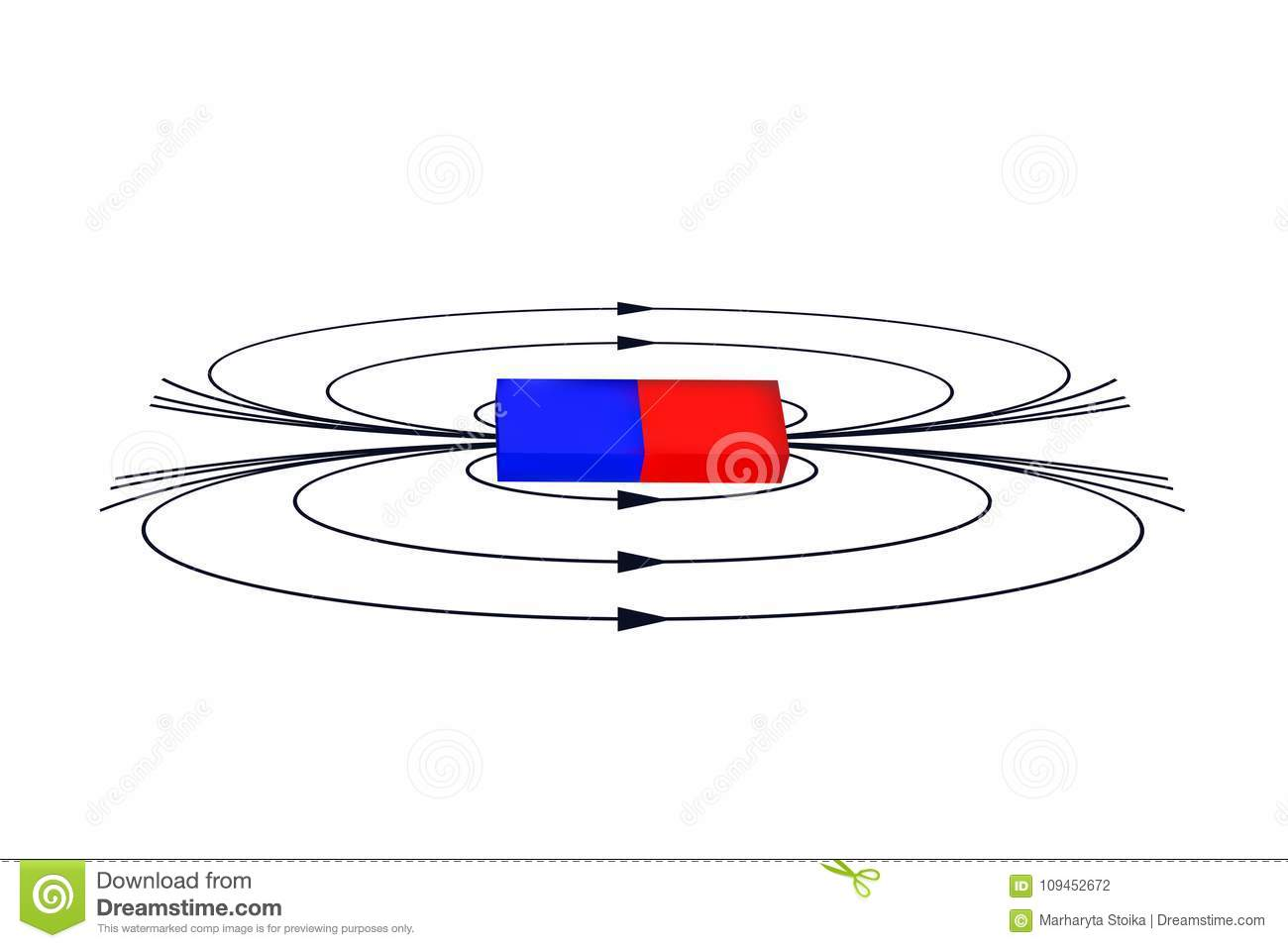 Magnet With The Magnetic Field Stock Vector