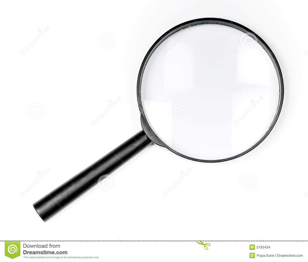 Book With Magnifying Glass Looking