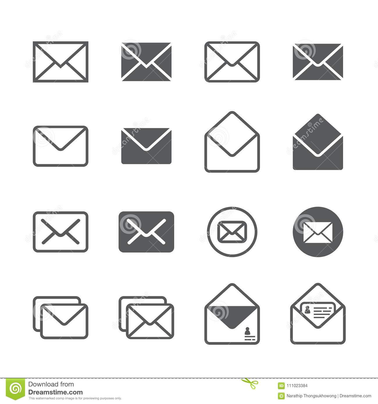 Vector Office Electronics Icon Set Vector Illustration