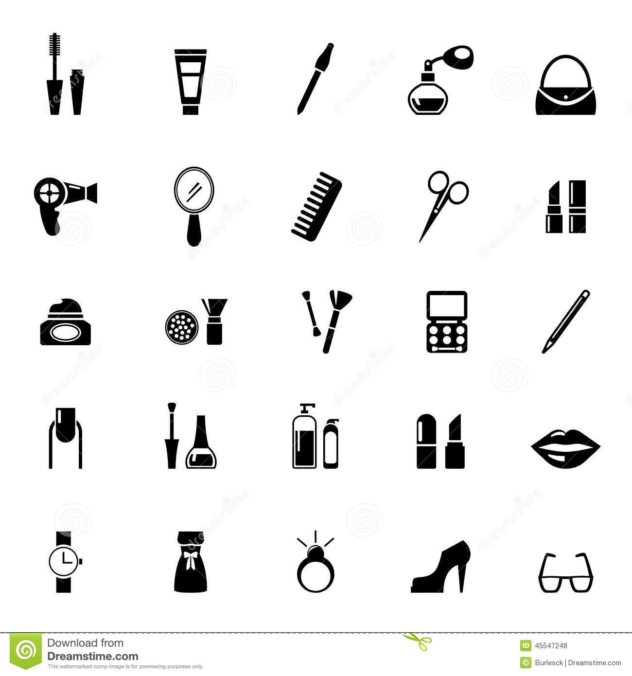 Make Up Icons Stock Vector