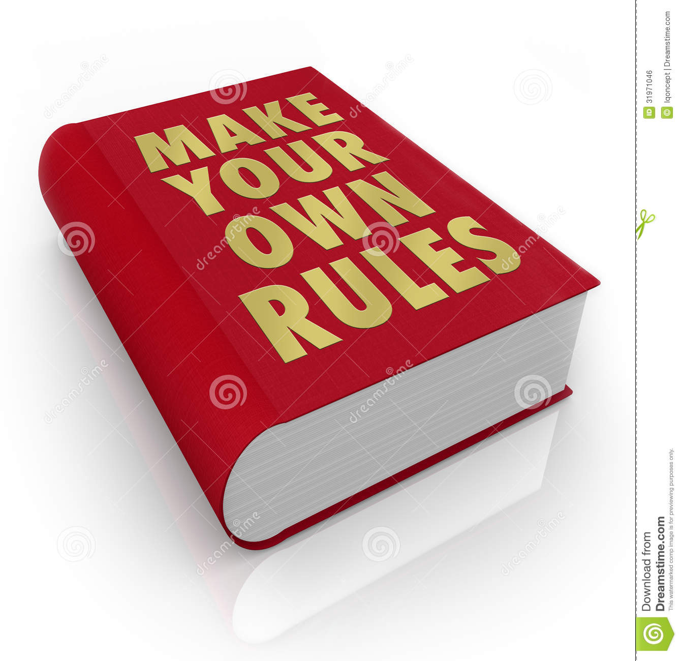 Make Your Own Rules Book Take Charge Of Life Royalty Free