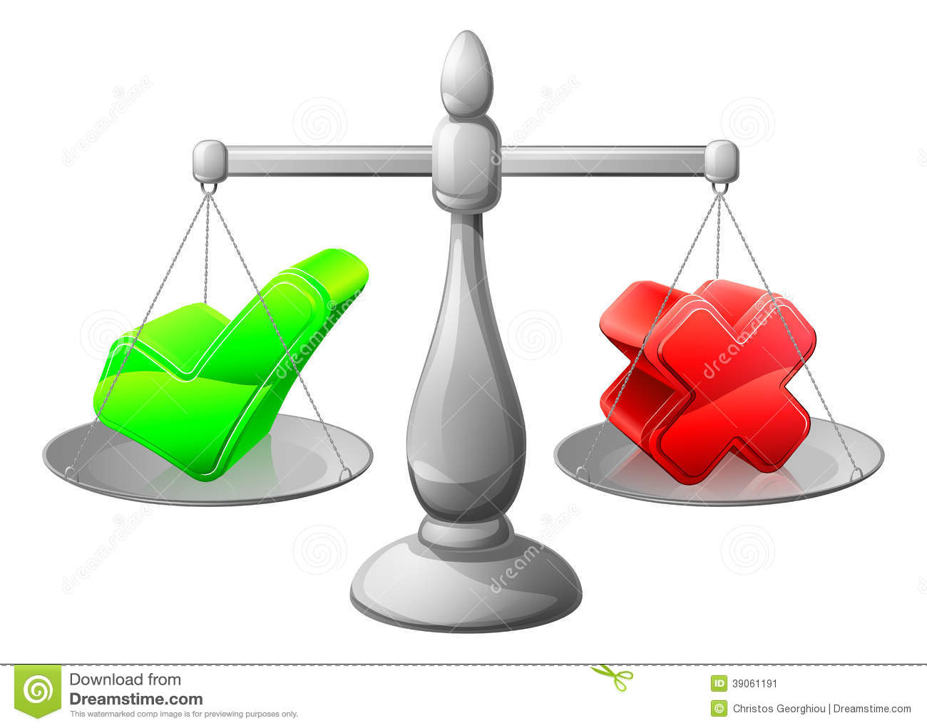 Making Decision Scales Concept Stock Vector