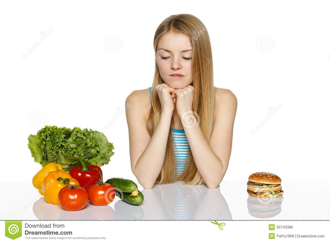 Making Healthyt Choices Royalty Free Stock Image