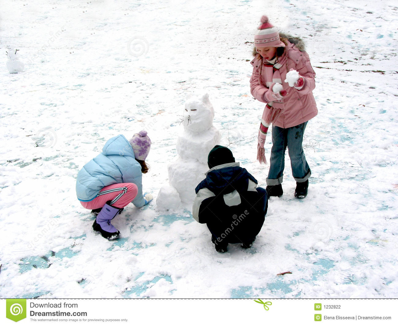 Making A Snowman Stock Photo Image Of Fresh Cold Winter